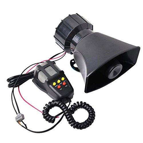 Besplore 5 Tone Sound Car Siren Vehicle Horn With Mic PA Siren Horn MIC System Kit Emergency Sound Amplifier - 100W Emergency Sounds Electric Horn-Hooter/ Ambulance/ Siren/Traffic Sound
