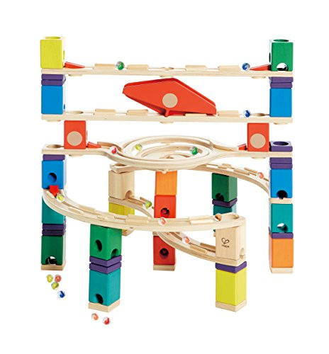 Hape Quadrilla Wooden Marble Run Construction - Loop de Loop - Quality Time Playing Together Wooden Safe Play - Smart Play for Smart Families by Hape