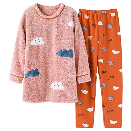 And Worn Xl162 Thick Outside Pajamasx M150 Home Velvet Coral 30 Service Winter Warm 162cm Autumn Flannel Pajamas 65kg 58 Female 168cm 50kg Be Can qXApw