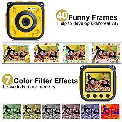PROGRACE Children Kids Camera Waterproof Digital Action Camera for Boys Girls: Toys & Games