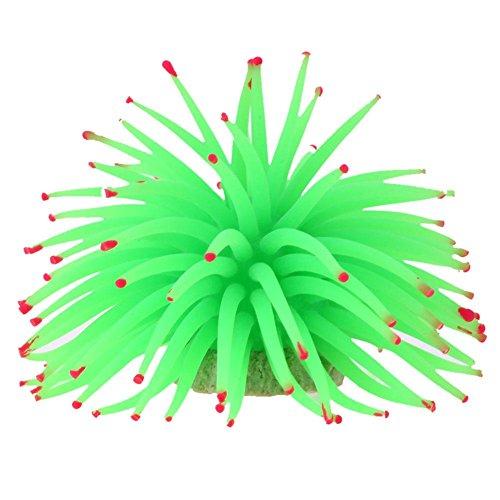 Aquarium Ornament, Aquarium Fish Tank Landscape Soft Colorful Artificial Coral Ornaments Decor by TTnight (Green)