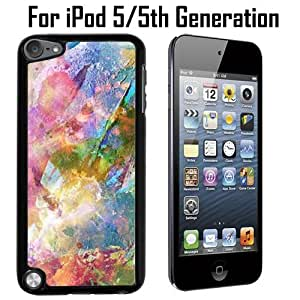 Abstract Grunge Painting Custom Case/ Cover/Skin *NEW* Case for Apple iPod 5/5G/5th Generation - Black - Plastic Case (Ships from CA) Custom Protective Case , Design Case-ATT Verizon T-mobile Sprint ,Friendly Packaging - Slim Case