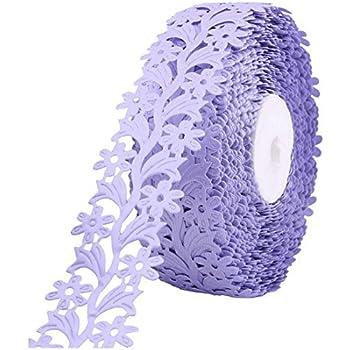 eDealMax poliéster Pastel de bodas del embalaje del Regalo de la decoración del ornamento de la Cinta del Rollo 20 yardas Longitud purpúrea Clara