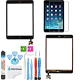 PC Hardware : Omnirepairs-For Black iPad Mini (1st and 2nd Generation) Retina Display Touch Screen Digitizer Glass OEM Assembly with Home Button, IC Chip, Adhesive Tape, Screen Protector, Premium Repair Toolkit