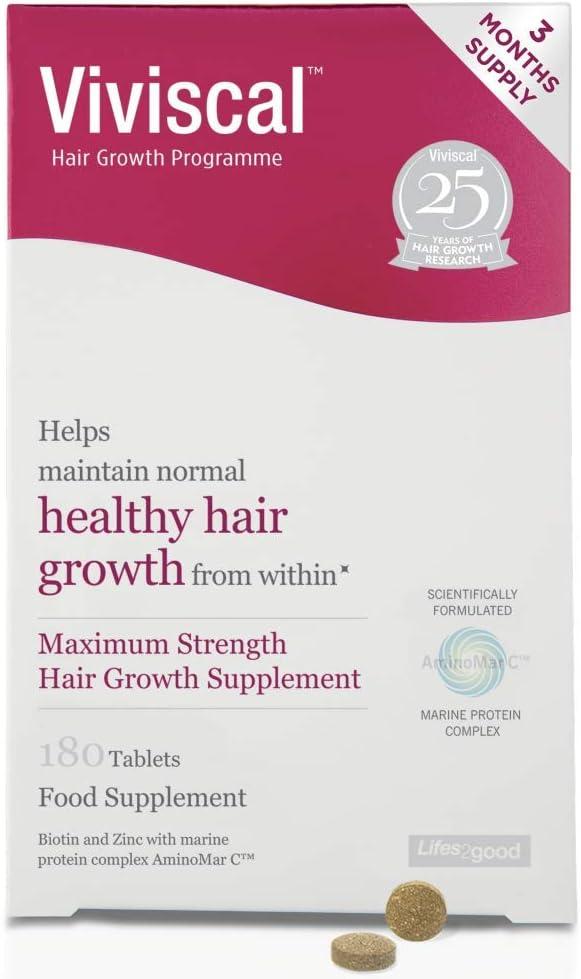 Viviscal - Programa de crecimiento del cabello de máxima resistencia, 3 meses, 180 tabletas por Viviscal