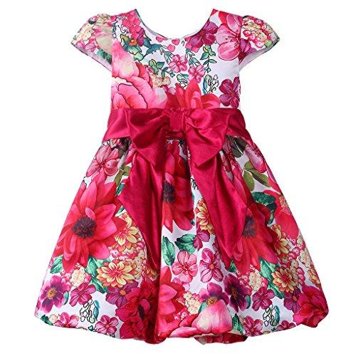 Print Bubble Hem Dress - 6
