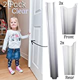 Cardea Door Safety Finger Pinch Hinge Guard Pack for Covering the Front & Back of Door - Clear (2 Pack)