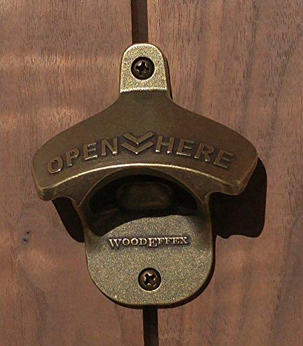 Wall Mount Bottle Opener Brass
