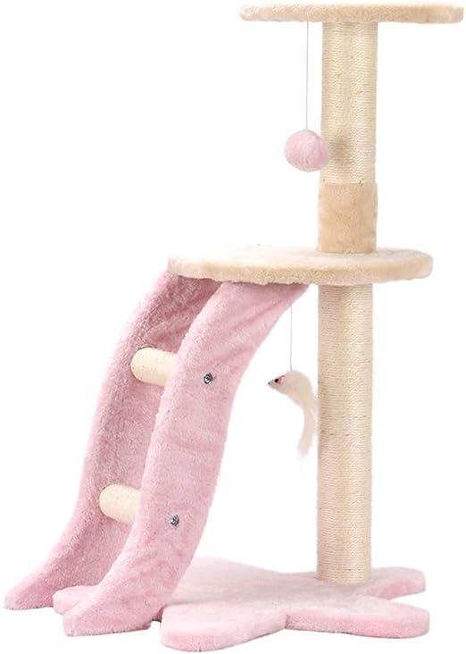 Marco De Escalada para Gatos, Pequeño Gatito Paradise Sisal Columna De Garra De Gato Plataforma De Salto para Gatos Escalera para Mascotas Suministros (Color : Pink): Amazon.es: Productos para mascotas