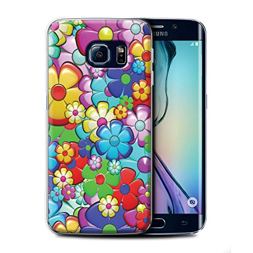 STUFF4 Phone Case/Cover for Samsung Galaxy S6 Edge/Vibrant Flower Power Design/Hippie Hipster Art Collection