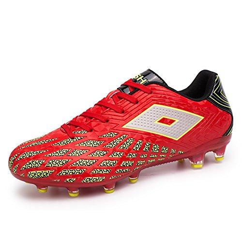 Xing Lin Chaussures De Football Chaussures De Foot Lumineux Adultes Concours Formation Des Jeunes Résistants À LUsure, LAntidérapage Chaussures De Sport Chaussures De Gazon Artificiel Ag Spike, 38,