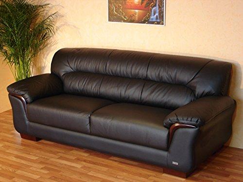 Designer Leder-Sofa-3 Sitzer Garnitur Couch Ledersofa Ledercouch 327-3-S