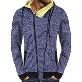 Corriee Men Hoodies Men's Autumn Unique Zipper Design Casual Hooded Sweatshirt Daily Solid Outwear Hoodie Tops Coat