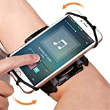 Amtake 180° Rotatable Armband / Wristband Phone Holder for Running Hiking Biking- Universal Size for iPhone X 8 8 Plus 7 Plus 6s Plus 6 Plus, LG G6 G5, Galaxy s8 s7 s6 Edge, Google Pixel (3.5 to 6 inch)
