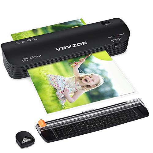 Laminator A4 VEVICE Laminator 4 in 1 Thermal Laminator for Home Office School Use 9 inches 20 Laminating Pouches Paper Trimmer Corner Rounder