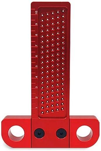 Pr/äzisionsmarkierung T-Lineal,T-Quadrat-Messwerkzeug T-Vierkant-Aluminiumlegierung T-Vierkant Lochmesslineal Mehrzweck-Holzbearbeitungs-Kratzer T100
