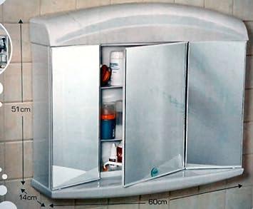 Alibert spiegelschrank  SPIEGELSCHRANK ALIBERT DELTA 3türig mit LICHT: Amazon.de: Küche ...