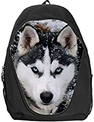 Siberian Husky Dog School Kid Backpack Bag