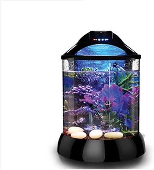 Cilindro de pescado mini acuario pecera pequeña bomba de oxígeno ...