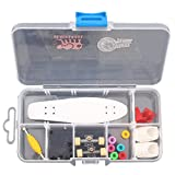 Fanci ABS Skateboard Single Rocker Set DIY Tech Deck Mini Finger Boarding Toy with Storage Box