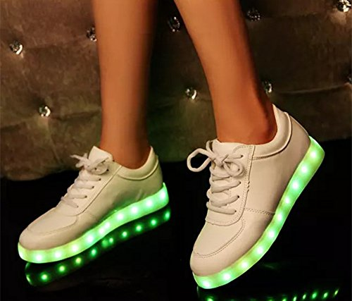 Colorful his-and-hers Unisex LED Luminous Casual Sneaker(5.5M)