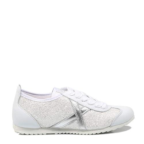 Munich, Osaka 373 Blanco Glitter Zapatilla Mujer: Amazon.es: Zapatos y complementos