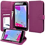 BLU Studio 6.0 HD D650a Case, Abacus24-7 BLU Studio 6.0 HD Wallet Case with Flip Cover, Stand and Pockets for ID, Credit Cards - Purple BLU Studio 6.0 HD D650a Flip Case