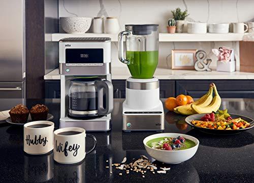 Braun KF6050WH Brewsense Drip Coffee Maker, 12-Cup (white)