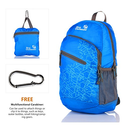 a6fbae92b6 Outlander Packable Handy Lightweight Travel Hiking Backpack Daypack-light  Blue