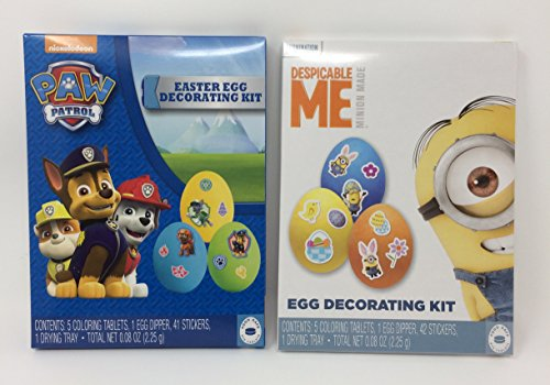 Paw Patrol and Minions Easter Egg Decorating Kits
