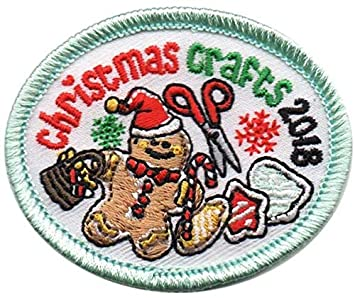 Cub Girl Boy Christmas Crafts 2018 Embroidered Iron On Fun Patch