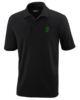 9e96d0ea8 Speedy Pros Plant Desert Green Cactus Embroidery Performance Polo Shirt  Golf Shirt - Black