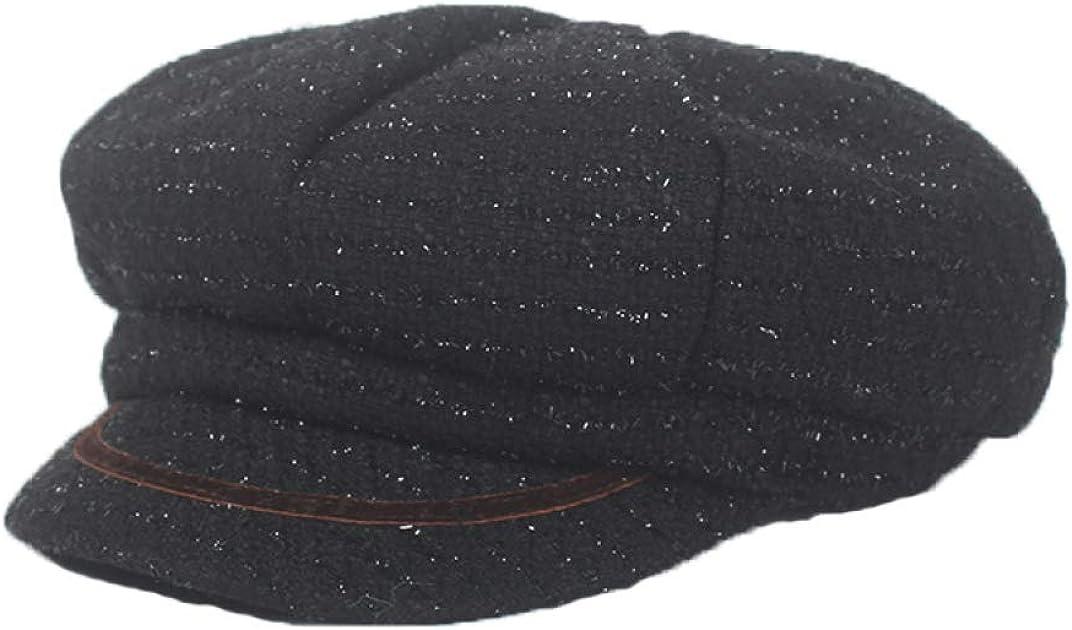 Women Knitted Newsboy Hat...