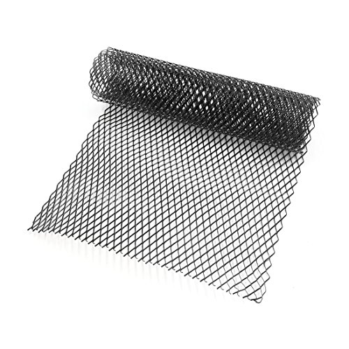 Lanlan 10x20mm Car Grill Grille Vent Mesh Aluminum Alloy Front Bumper Rhombic Grill Mesh Sheet black
