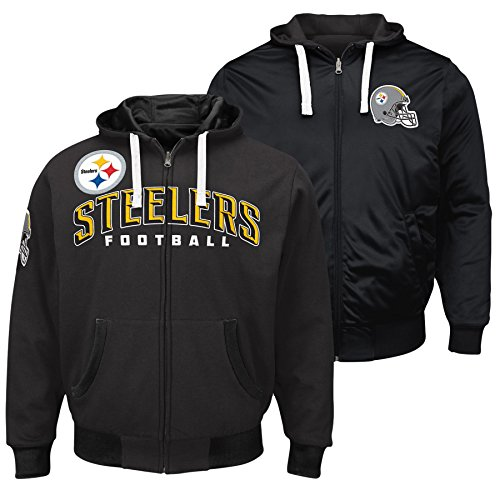 G-III Sports Pittsburgh Steelers NFL Extreme Full Zip Reversible Hooded Jacket - Small by G-III Sports