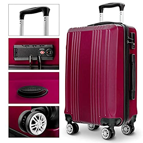 Amazon.com | Durable Luggage Sets, Lightweight 3 piece Luggage Sets Hardshell Spinner Suitcase with TSA Approved Locks | Luggage Sets