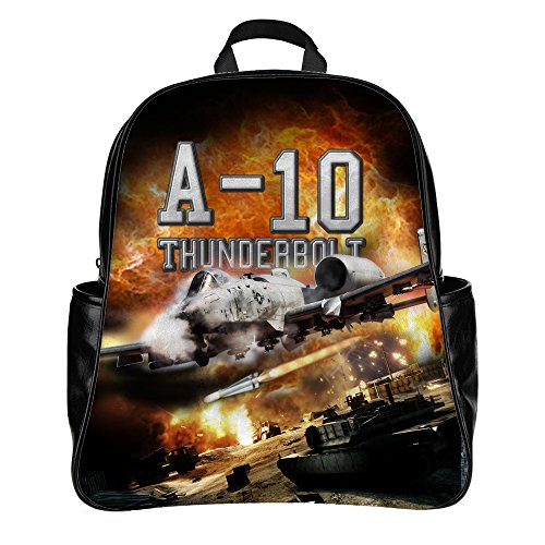 Personalized Backpack Schoolbag Print USAF A-10 Warthog Picture for Military Fans (A10 Usaf Warthog)