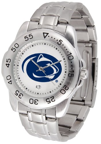 (SunTime Penn State Nittany Lions Sport Steel Band Men's Watch )