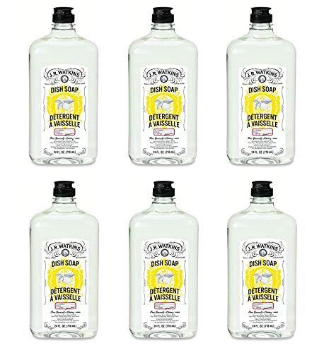 J.R. Watkins: Liquid Dish Soap Lemon, 24 oz (Pack of 6)