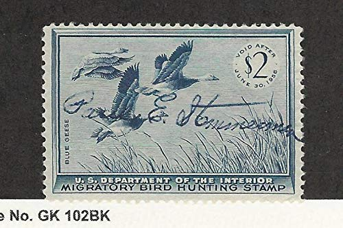 United States, Postage Stamp, RW22 Used, 1955 Duck Hunting Stamp, JFZ
