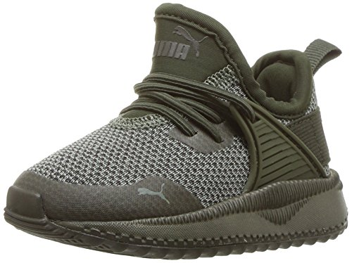 PUMA Unisex Pacer Next Cage AC Kids Sneaker, Forest Night-Laurel Wreath, 1.5 M US Little
