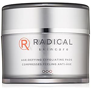 Radical Skincare Age-Defying Exfoliating Pads Removes Dead Skin, Evens and Brightens Skin Tone for Radiant Glow | For…