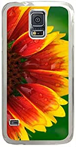 Blanket-Flower Cases for Samsung Galaxy S5 I9600 with Transparent Skin