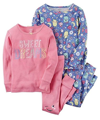 Carter's Baby Girls 4 Piece Sweet Dreams Pajama Set 6 Months - Sweet Dreams Girl