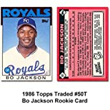 1986 Topps Traded #50T Bo Jackson (RC - Rookie Card)
