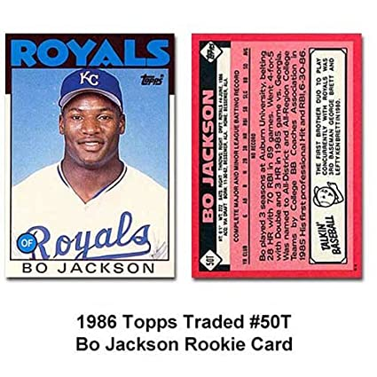 1986 Topps Traded 50t Bo Jackson Rc Rookie Card