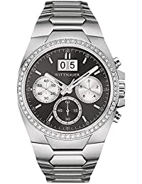Men's WN3049XG Quartz Chronograph Crystalss Black Dial 41mm Watch (Certified Refurbished)