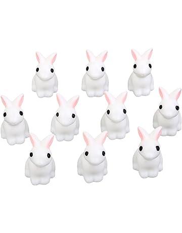 Casa De Munecas En Miniatura De Artesania Bonsai Jardin Paisaje 10pcs Conejos Bricolaje Decoracion