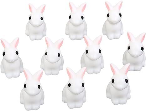 Miniature Dollhouse 10pcs Bonsai Craft Garden Landscape DIY Rabbits Decor