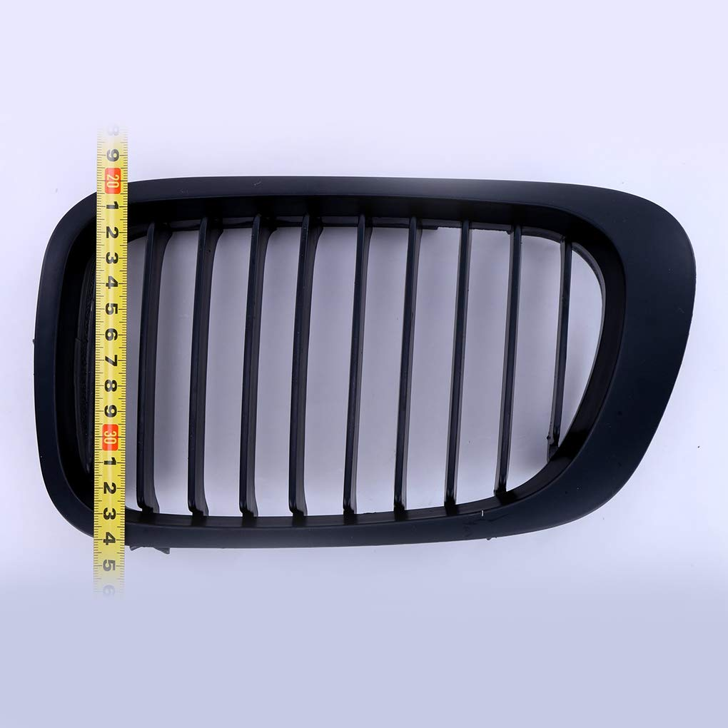 Dergtgh 2-Door Coupe Front Kidney ABS Plastic Grilles Grill Matte Black Replacement for E46 1998-2001